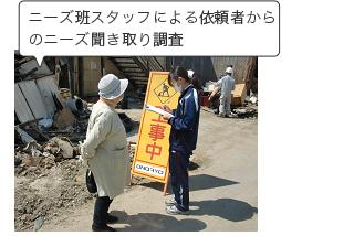 東日本大震災支援の様子の写真04